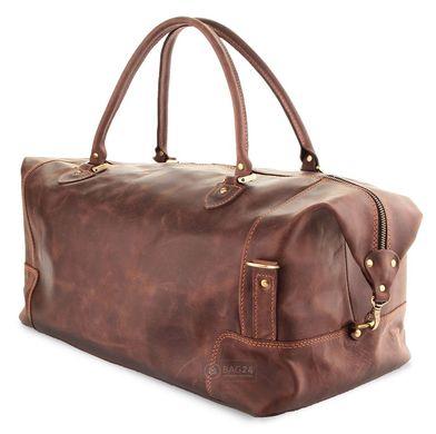 6c2976341678 Элитная дорожная сумка из натуральной кожи в стиле ВИНТАЖ SHVIGEL 00512,  Коричневый