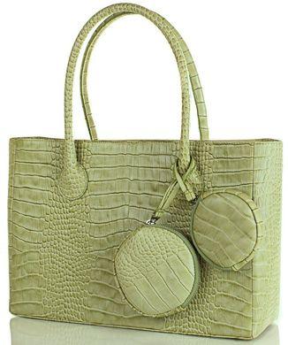 c9411d7a20bb Элитная дизайнерская женская сумка из натуральной кожи GALA GURIANOFF  GG1255, Зеленый