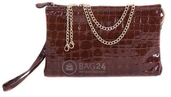 94112e54dd67 Стильный женский клатч из высококачественной кожи ETERNO E8006A-8,  Коричневый