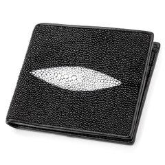 140823ca0fca Кошелек STINGRAY LEATHER 18009 из натуральной кожи морского ската Черный,  Черный
