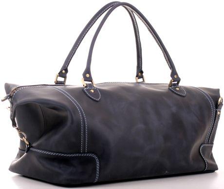 ae4a9b013fa2 Большая и практичная дорожная сумка из винтажной кожи SHVIGEL 10096, Синий