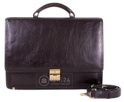 7bdf9534559e Дорогой кожаный мужской портфель WANLIMA W50014900036-black: цена ...