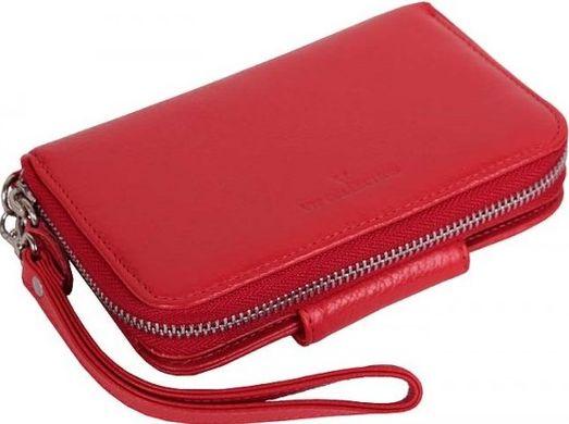 a6649eb78d29 Оригинальный женский кошелек на молнии из натуральной кожи Vip Collection  Украина 1530R flat, Красный