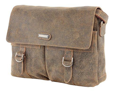 63f9be7ac254 Современная мужская сумка через плечо из винтажной кожи 12443, Коричневый