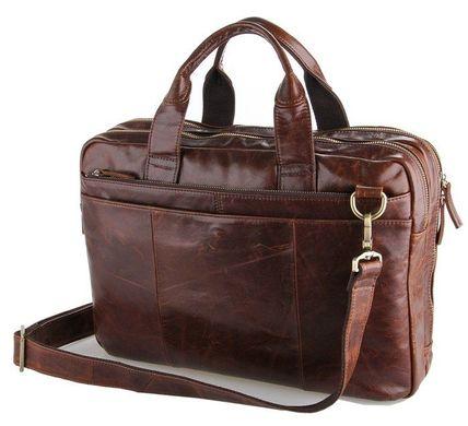 6178c5d95752 Вместительная кожаная сумка коричневого цвета 14210: цена - 3 589 ...