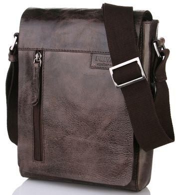 3b9cbb8744b8 Сверхпрочная мужская кожаная сумка через плечо Privata 03400214-02,  Коричневый
