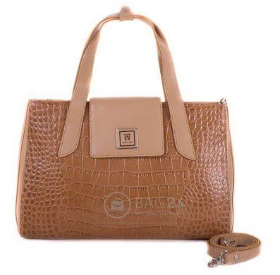 2322a107a4e1 Дорогая женская сумка из высококачественной кожи WANLIMA W12029480014-coffee,  Бежевый
