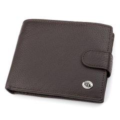 6638e41095d7 Мужской кошелек ST Leather 18330 (ST137) очень вместительный Коричневый,  Коричневый