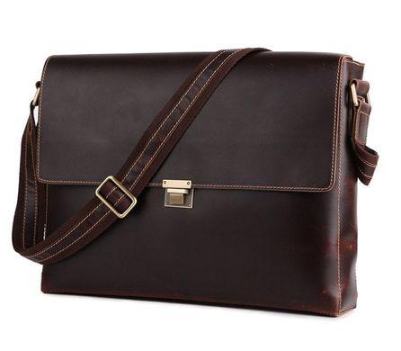 72da57fc4a62 Кожаная сумка мужская через плечо из толстой кожи 14109: цена - 2 ...
