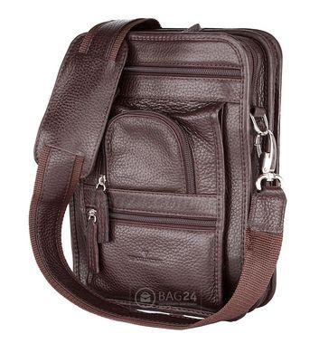 f2735452eee0 Добротная кожаная мужская сумка-барсетка европейского качества 2719B flat