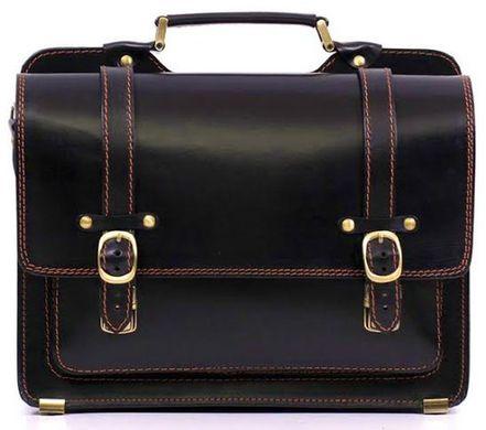 071cb70b6821 Многофункциональный мужской кожаный портфель ручной работы 10086, Черный