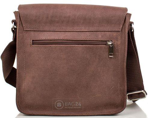 f6e225553742 Добротная мужская сумка из высококачественной кожи MIS MS4234, Коричневый
