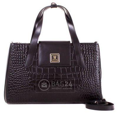 1ebb67817e10 Кожаная черная сумка Wanlima  цена - 4 977 грн - купить Кожаные ...