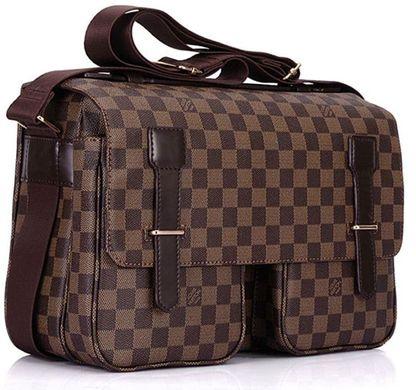 Элитная мужская сумка Louis Vuitton Damier Ebene Canvas Broadway N42270,  Коричневый 54290f14c2b