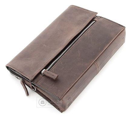 Барсетка SHVIGEL 00757 из винтажной кожи Коричневая  цена - 1 764 ... 06797c9ac8aaa