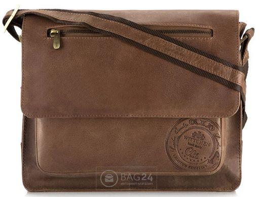 aab9d6635bb5 Эксклюзивная мужская сумка европейского качества WITTCHEN 05-4-002-4,  Коричневый