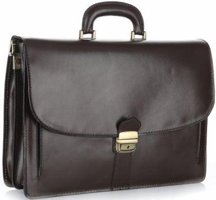 b2a8621ffdfc Мужской портфель из натуральной кожи Accessory Collection 10105 Коричневый,  Коричневый