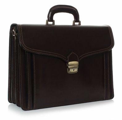 33704b66eeae Вместительный модный портфель из кожи высокого качества Accessory  Collection 10107 Коричневый, Коричневый