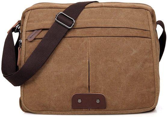 9f0111fd9e29 Сумка мужская Vintage 14445 текстильная Коричневая: цена - 1 400 грн ...