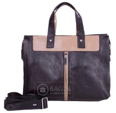 e4ac198ceb0b Вместительная мужская сумка-портфель из натуральной кожи ETERNO E1191-4,  Черный