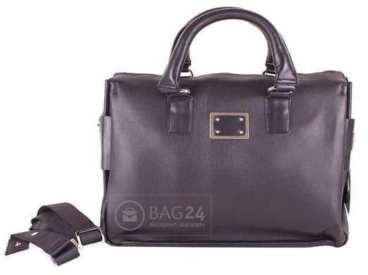 5c6a241b5866 Добротная мужская кожаная сумка больших размеров QUALITY FASHION DS621-2,  Черный