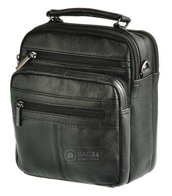 8b5e031f0eec Кожаная мужская сумка с удобной ручкой Accessory Collection 12749, Черный