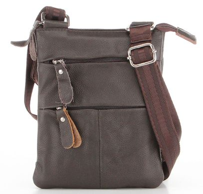 d6e984df53d2 Добротная мужская кожаная сумка европейского качества 15132, Коричневый