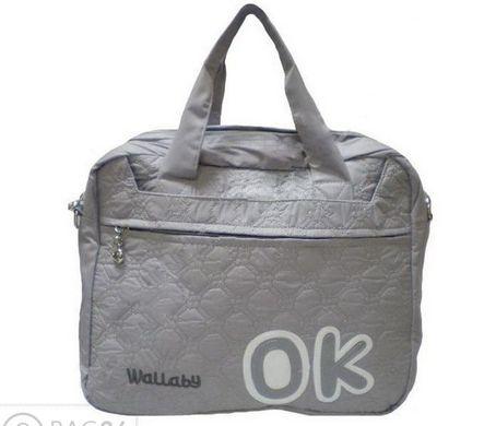 ad26fc16ff09 Серая молодежная сумка WALLABY DL164: цена - 530 грн - купить Сумки ...